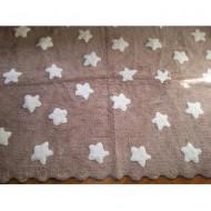 Teppich waschbar taupe mit Sternen 120x160cm