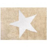 Teppich waschbar beige mit großem Stern 120x160cm