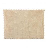 Teppich waschbar in beige 120x160cm