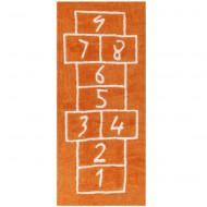 Teppich waschbar Hüpfspiel orange 90x200cm