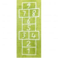 Teppich waschbar Hüpfspiel grün 90x200cm