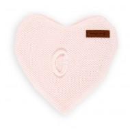 Baby's Only Kuscheltuch Herz Classic rosa 24x24cm