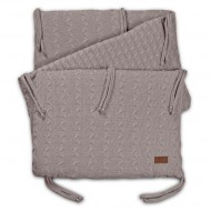 Baby's Only Zopf Bettnest in taupe 180x40 cm