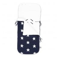 Baby's Only Fußsack Sterne dunkelblau 86x38cm