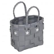 Handed By Shopper Sevilla- Täschchen in grau mit weißen Sternen