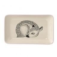 Bloomingville Keramikplatte 'Reh' rosa