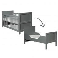 Bopita Babyflex Mix&Match umbaubares Babybett 70x140cm in deep grey