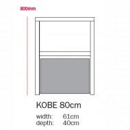 Bopita Regal Kobe - Höhe 80cm - Farbe Schublade aus 22 Farben wählbar