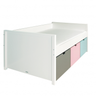 Bopita Mix&Match Kompaktbett Timo 120x200cm in weiß - Boxen exklusive, Farben frei wählbar