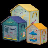 Rice Spielzeugkörbe Häuser Airport-Aquarium-Fun Fair in 3 Größen