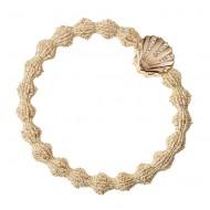 By Eloise Haargummi Armband Seashell glittery gold