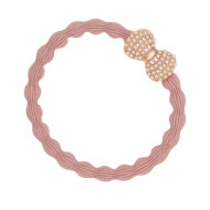 By Eloise Haargummi Armband Bling Bow champagner pink