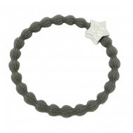 By Eloise Haargummi Armband Silver Star cloudy grey