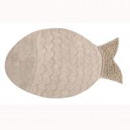 Lorena Canals waschbarer Teppich Fisch in beige 110x180cm