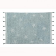 Lorena Canals waschbarer Teppich 'Hippy Stars' in blau 120x175cm