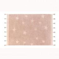 Lorena Canals waschbarer Teppich 'Hippy Stars' in rosa 120x175cm