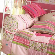 Camengo Tagesdecke Patchwork in rosa