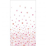 "Casadeco ""Alice & Paul"" Panoramastoff Herzen rosa-pink-orange155 x 280 cm"
