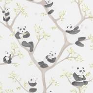 """Casadeco """"Alice & Paul"""" Stoff Pandabären"""