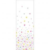 """Casadeco """"Alice & Paul"""" Tapetenwandbild Herzen 100x280 cm rosa-türkis-gelb"""