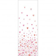 "Casadeco ""Alice & Paul"" Tapetenwandbild Herzen 100x280 cm rosa-pink-orange"