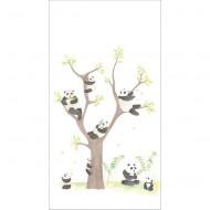 """Casadeco """"Alice & Paul"""" Tapetenwandbild Pandabären 150x280 cm"""