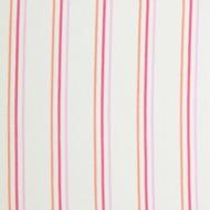 "Casadeco ""Arc en Ciel"" Stoff Streifen rosa-rot-orange"
