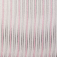 "Casadeco ""Douce Nuit"" Stoff Streifen grau-rosa"