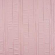 """Casadeco """"Douce Nuit"""" bestickter Stoff Streifenmix Leinen rosa"""