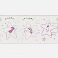 Casadeco Arc en Ciel Bordüre Künstlerin rosa-silber