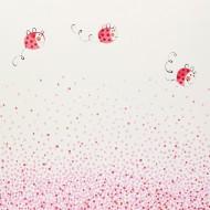 Casadeco Arc en Ciel Tapete Käferchen mit Punkten in rosa-rot