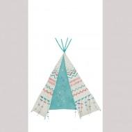 Casadeco Arc en Ciel Wandbild Tipi blau-rot 158cm x 280