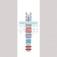 Casadeco Arc en Ciel Wandbild Pfahl blau-rot  280cm x 110cm
