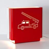 Molight Series Tischleuchte Feuerwehr in rot