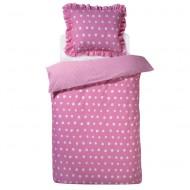 Damai Wendebettwäsche Dotty Spotty in pink mit Punkten in 135x200cm