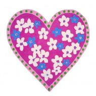 Designers Guild Teppich Candy Hearts Fuchsia 140x140cm