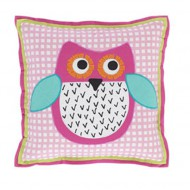 Designers Guild Kissen Little Owl in rosa 40x40cm