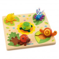 Djeco Holzpuzzle Tiere
