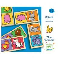 Djeco Lernspiel Holz: Domino Mom&Baby
