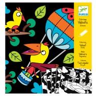 Djeco Malbuch Samt: Birds