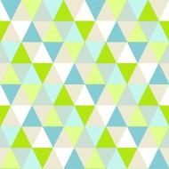 "Esta Home ""Everybody Bonjour"" Tapete Dreiecke grün-blau-beige"