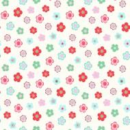"Esta Home ""Everybody Bonjour"" Tapete Vintage Flowers rot-grün-rosa"