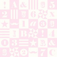 "Esta Home ""Everybody Bonjour"" Tapete ABC_Patchwork rosa"
