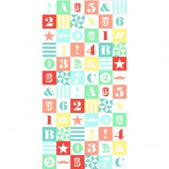 "Esta Home ""Everybody Bonjour"" Tapetenwandbild XL-Blocks bunt 139,5x279 cm"