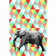 "Esta Home ""Everybody Bonjour"" Tapetenwandbild Elefant 186x279 cm bunt"