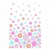 "Esta Home ""Everybody Bonjour"" Tapetenwandbild XL Blumen rosa-mint 186x279 cm"