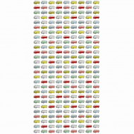 "Esta Home ""Everybody Bonjour"" Tapetenwandbild XL Omnibusse 139,5 x 279 cm"