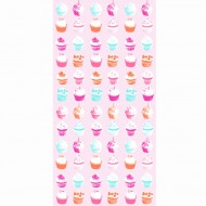 "Esta Home ""Everybody Bonjour"" Tapetenwandbild XL Cupcakes139,5 x 279 cm"