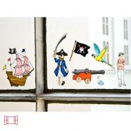 Fensterbild Pirat von Krima&Isa