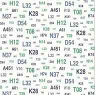 Esta Home Tapete Schrift in blau-dunkelblau-grün